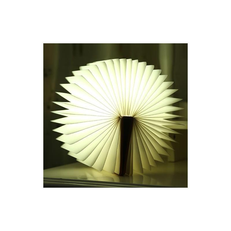 Lampe Livre Lumineux Couverture Bois Zub Art