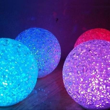 BOULE LED EFFET CRISTAL Ø 8 cm