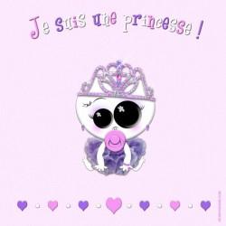 Je suis une princesse (fond rose)