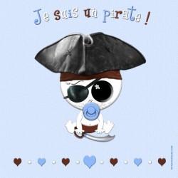 Je suis un pirate (fond bleu)