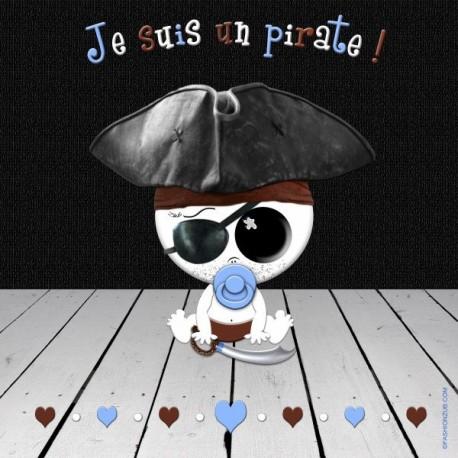 Je suis un pirate (fond noir)