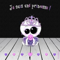Je suis une princesse (fond noir)