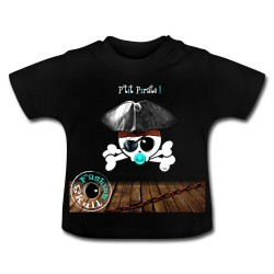 "T-SHIRT "" P'tit Pirate"" version skull"