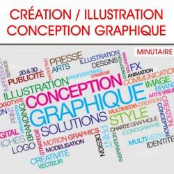ILLUSTRATION, CONCEPTION GRAPHIQUE / minute