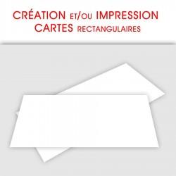 CRÉATION et/ou IMPRESSION CARTES RECTANGULAIRES